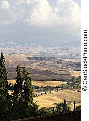 Pienza, Tuscany, Italy. Landscape