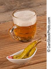 pieprz, piwo, gorący