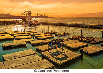Pier 39 at sunset