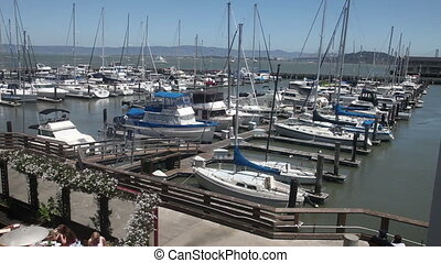 Pier 39 sail boat port - pier 39 port on San Francisco Bay