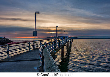 Pier And Cloudy Sunset 3