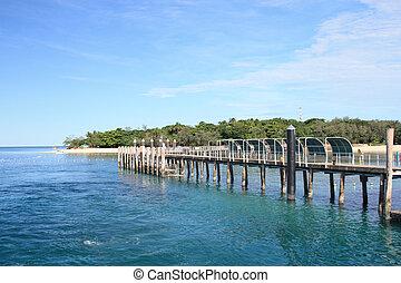 Pier at beautiful Green Island