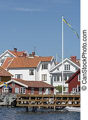 Pier at Mollosund in Sweden