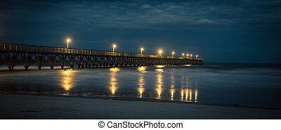 pier at night myrtle beach