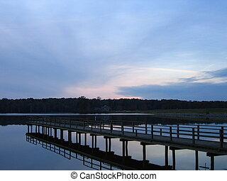Dock in Natchez State Park Lake