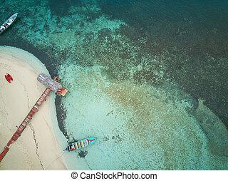 Pier in caribbean island