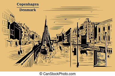 Pier in Copenhagen, brown