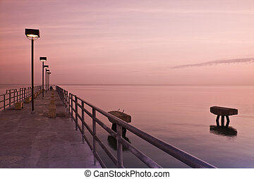 Pier in Edgewood Park - Pier in Edgewood Park - sunrise time...