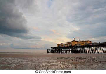 Pier in Hastings, UK.