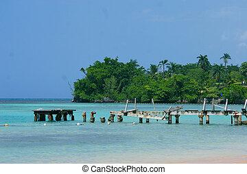 pier, in, jamaika