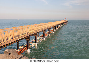 Pier in Kuwait City, Middle East