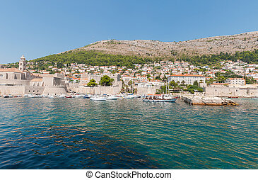 Pier in old town of Dubrovnik
