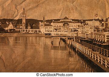 Pier in retro style