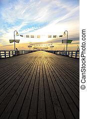 Pier in Sopot - Sunrise at the pier in Sopot, Poland.