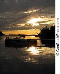 Pier in sunset 2