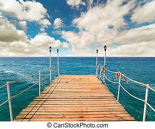 Pier in the sea, Turkey