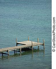 Pier in water