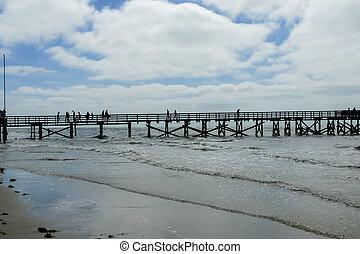 pier in winter, in Sweden Scandinavia North Europe
