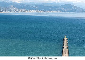 Pier into the sea