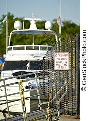 Pier-No Trespassing