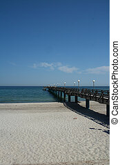 Pier of Heiligendamm/Baltic Sea in glorious summer weather