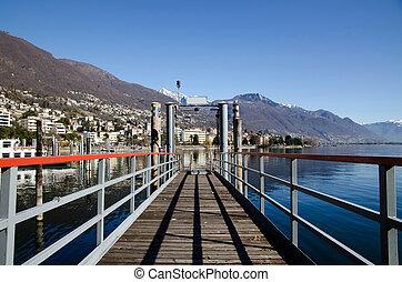 Pier on an alpine lake