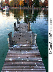 pier on Lac d'annecy, France