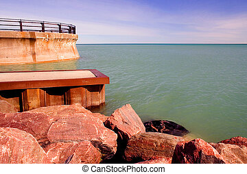 Pier on Lake Ontario