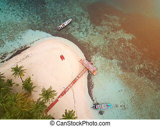 Pier on private island