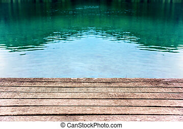 Pier on the lake.
