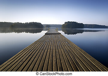 Pier. - Wooden pier at morning. aRGB.