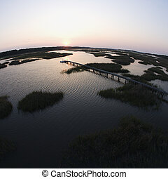pier., wetland , ακτοπλοϊκός