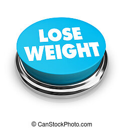 pierda el peso, -, azul, botón
