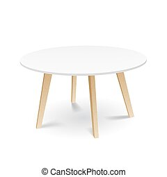 piernas, blanco, cenar, tabla de madera, redondo