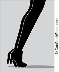 piernas, dos mujeres