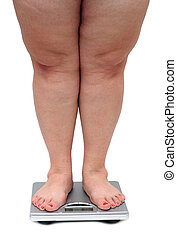 piernas, sobrepeso, mujeres
