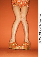 piernas, woman\'s, feet.