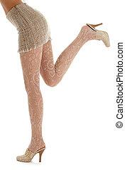 piernas, y, espalda, de, dama, en, ensacar, falda, #2