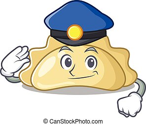 Pierogi Cartoon mascot performed as a Police officer. Vector illustration