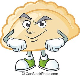 Pierogi mascot cartoon character style with Smirking face