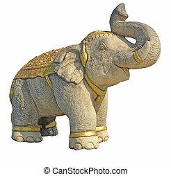 pierre, éléphant