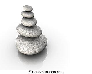 pierre, équilibre, tour