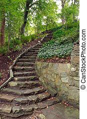 pierre, étapes