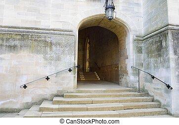 pierre, étapes, manière entrée