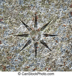 pierre, étoile, texture