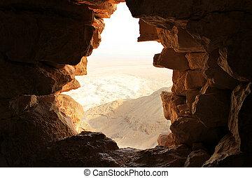 pierre, ancien, fenêtre