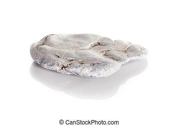 pierre, blanc, isolé, fond