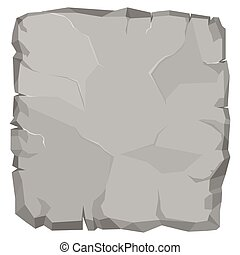 pierre, boulder., dessin animé, cassé, vecteur, rocher