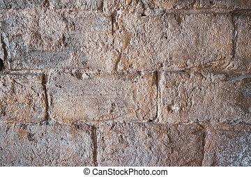 pierre, calcaire, vieux, mur, résumé, texture, stones.