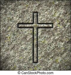 pierre, croix, texture
